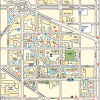 small screen shot of campus map featuring sustainable campus features