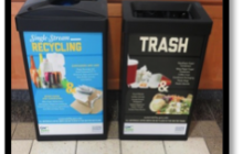 Indoor large recycling bins