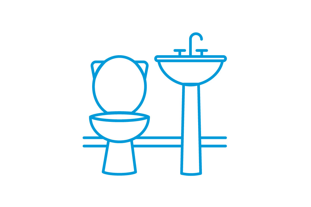 illustration of sink and toilet